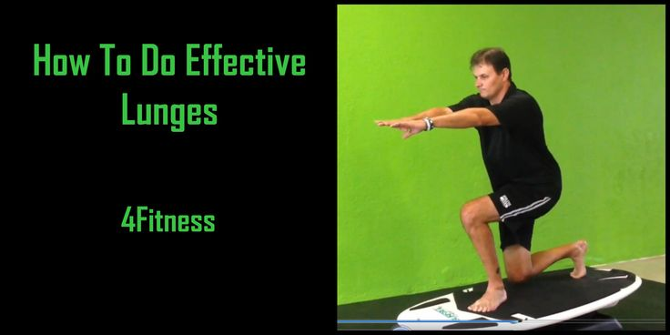 This Video Shows A Variety Of Ways To Use Lunges As A Fun And Effective Leg