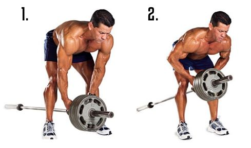 T Bar Rows build definition in the INNER back by hitting the traps and rhomboids hard. They require major core contraction and stability, which helps build stronger abs in the process.