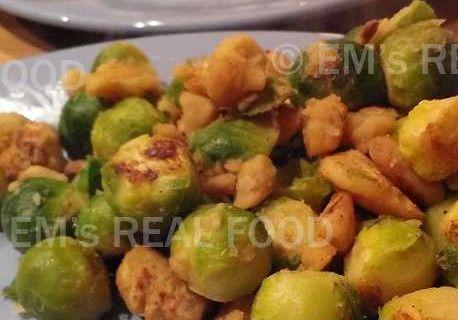 Spruitjes met tamme kastanjes en knoflook