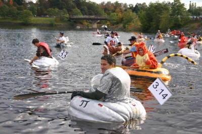 Pumpkin Regatta in the town of Windsor, Nova Scotia. They literally get giant pumpkins, decorate them, and float on a lake. I want to do this!