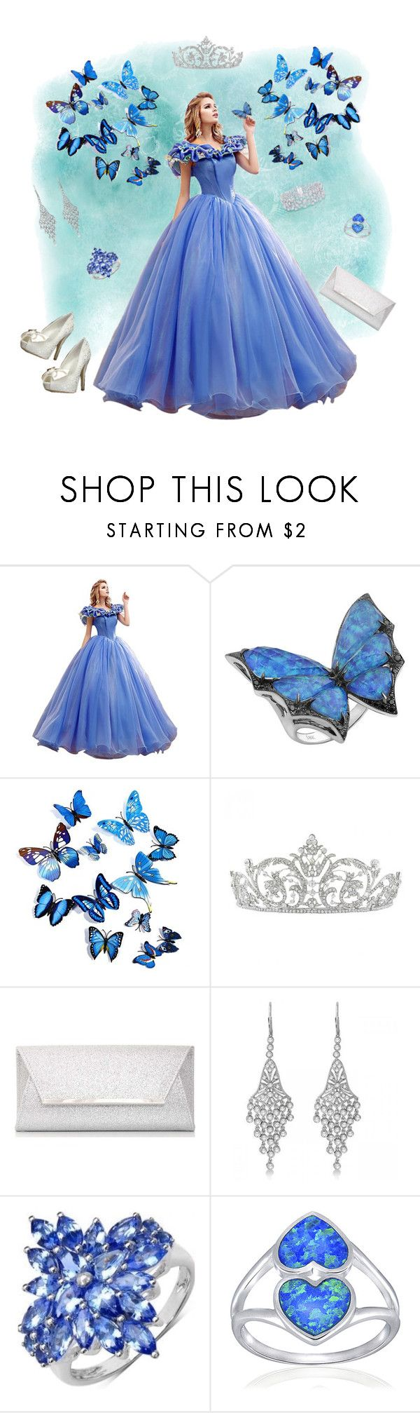 """butterfly dreams"" by valorierose ❤ liked on Polyvore featuring Stephen Webster, Dorothy Perkins, Allurez, Graff and Silver Treasures"