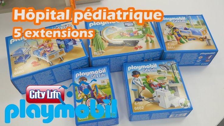 Playmobil 5 extensions de l'hôpital pédiatrique - Démo des constructions