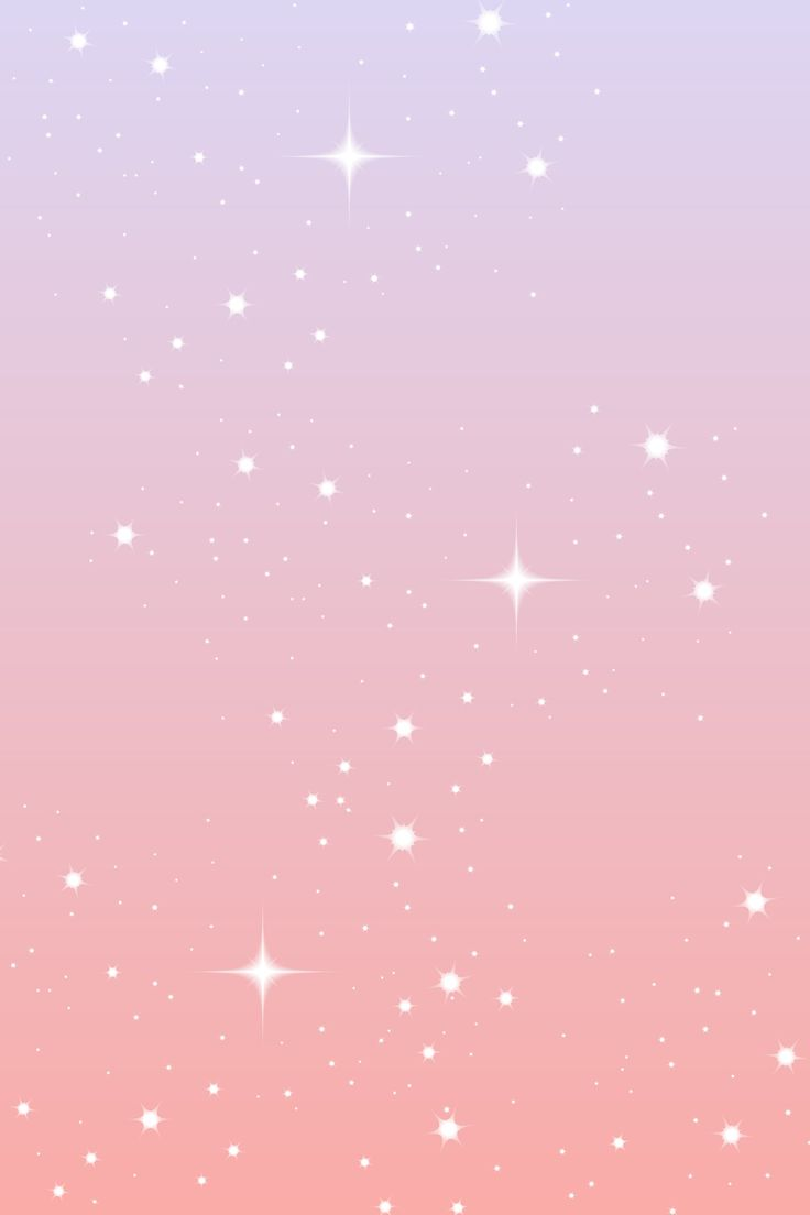 Phone wallpaper with purple and pink ombre and with sparkly stars