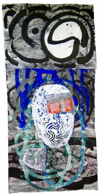 Kamol Tassananchalee,  The four Elements 2016 Chatworth Series US#1, 180x80 cm., Acrylic on Handmade Paper, 2016. Earth, Air, Fire &Water - Tajsko-Polska wystawa sztuki w Centrum Promocji Kultury w Warszawie - wernisaż 1.06.2016 godz. 19:00 - wystawa czynna do 10.06.2016 r. http://artimperium.pl/wiadomosci/pokaz/742,earth-air-fire-water-tajsko-polski-projekt-artystyczny#.V01awPmLTIU