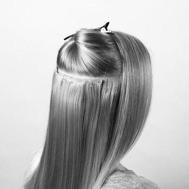 Ibero Clip-on hair extension.  Iberon klipsu hiuspidennykset. Hiuslisäke, klipseillä - Ibero Boutique