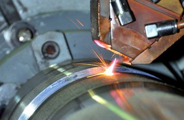 The laser cladding process is essentially a welding process utilizing a controllable laser beam as its heat source.