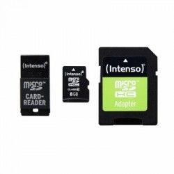 Intenso 3413760 Micro SD clase 10 8GB c/adapt+USB