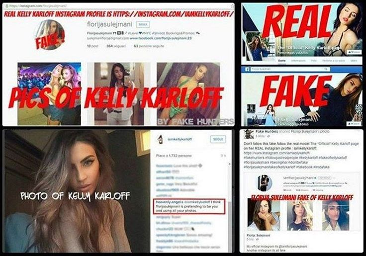 As always #florijasulejmani pretends to be @iamkellykarloff.  #fakehunters #fakeprofiles #fakeprofile #florijasulejmani #iamflorijasulejmani #fake #kellykarloff #fakeofkellykarloff #beoriginal