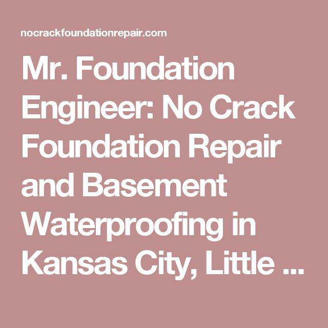 no crack foundation repair and basement waterproofing in kansas