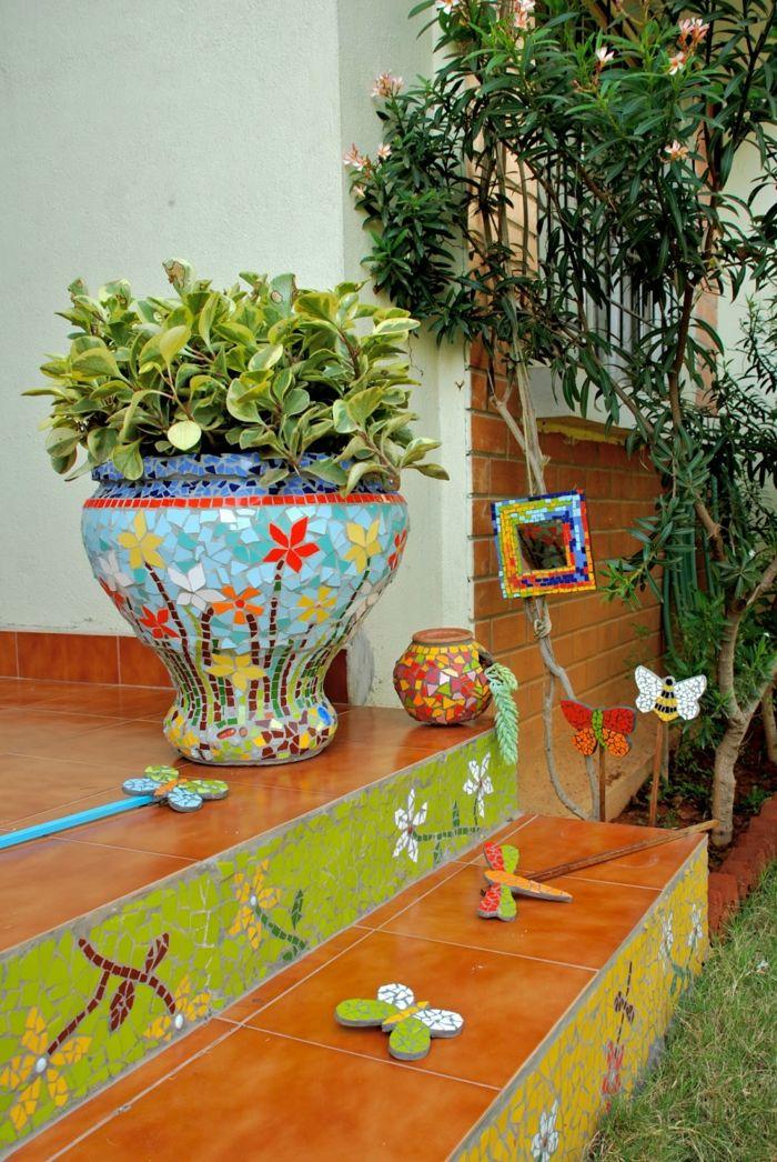 die besten 25+ mosaik selber machen ideen auf pinterest | selber, Gartenarbeit ideen