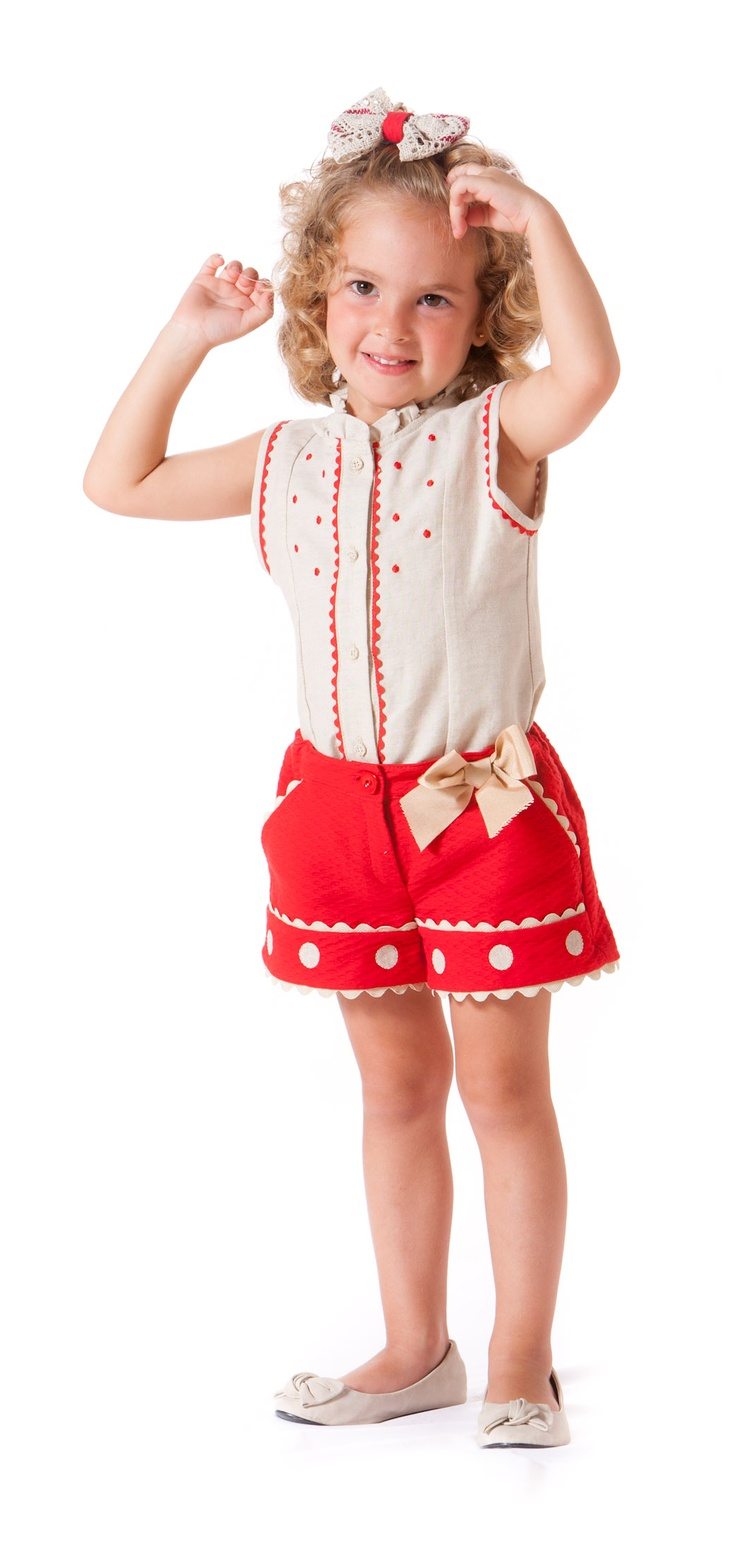 Conjunto de short y camisa. Disponible en paraisobebe.com ropa, bebé, verano, primavera, infantil, niña, moda