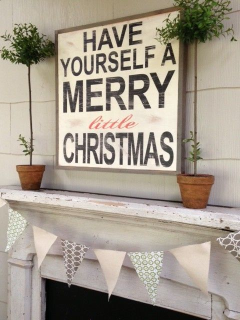 Have yourself a merry little Christmas sign ... Ok who can make this for me,? Seriously I have the plywood just not the talent/patience