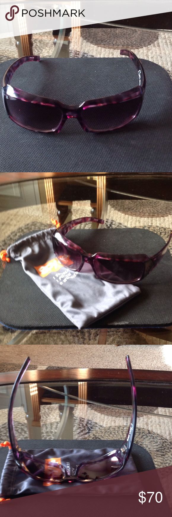"""Women's SPY Sunglasses """"CLEO"""" Women's SPY Sunglasses """"CLEO""""-Hardly worn, but there's a very small surface scratch on the left lense, a few surface scratches on top of the frames, & the frames are slightly bent, as can be seen in the 3rd pic.... SPY Accessories Sunglasses"""