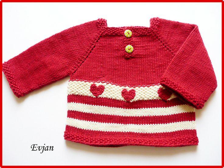 """♥ Babypullover """"Herzchen"""" Gr. 56/62 ♥ von Evjan auf DaWanda.com"""
