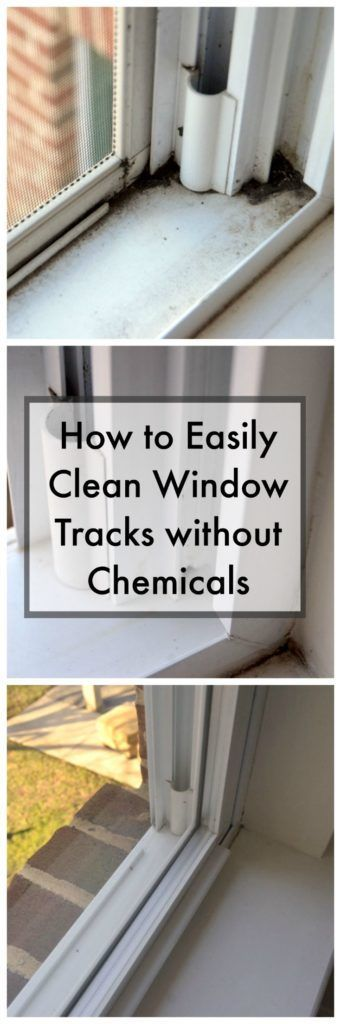 See this easy way to clean window tracks. No chemicals! - http://createandbabble.com/how-to-easily-clean-window-tracks/