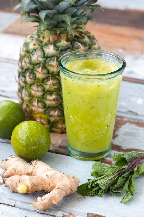 Recept » Ananas Limoen Gember Juice