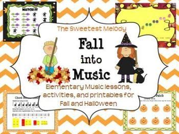 fall into music elementary music lessons and activities for fallhalloween - Online Halloween Music