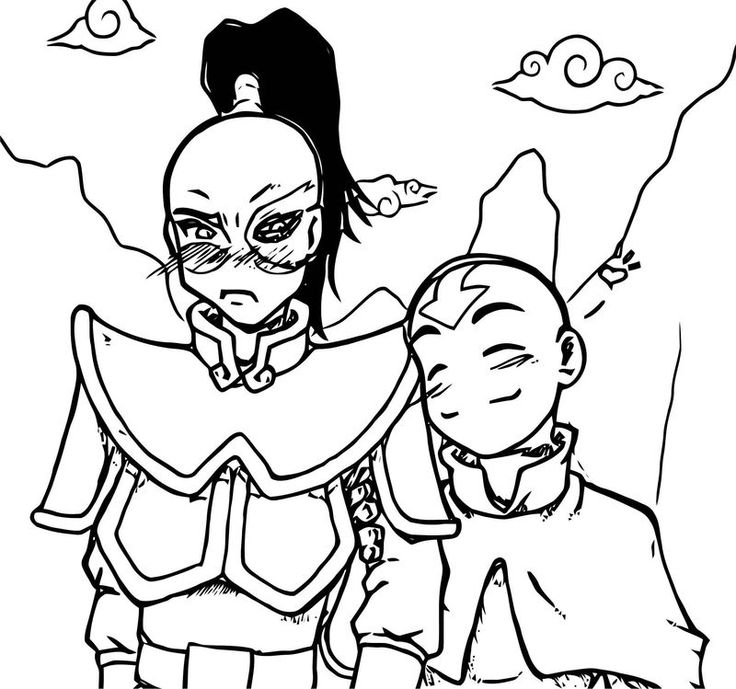 Aang Hearts Zuko Kole Avatar Aang Coloring Page Also See Read