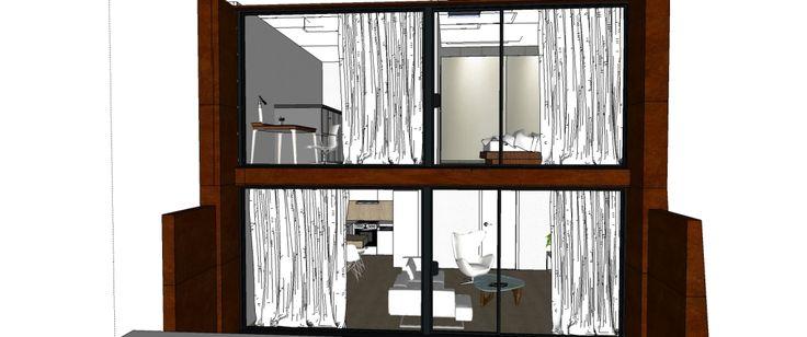 Vizualizácia mezonetu - čelný pohľad