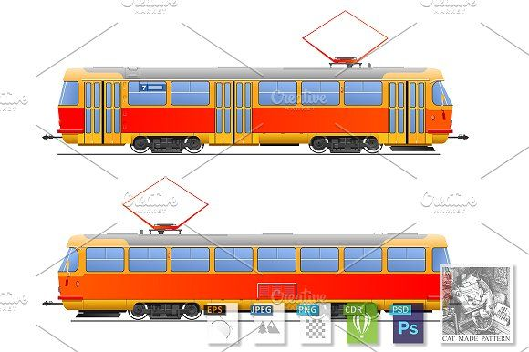 Tramway by CatMadePattern on @creativemarket