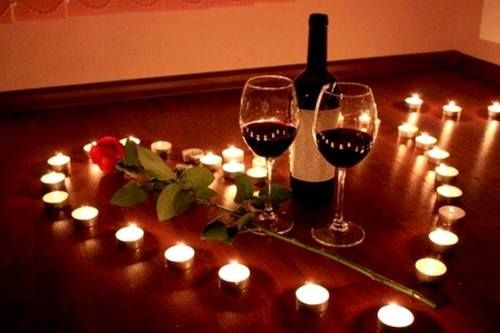 Imagen de love, candle, and wine