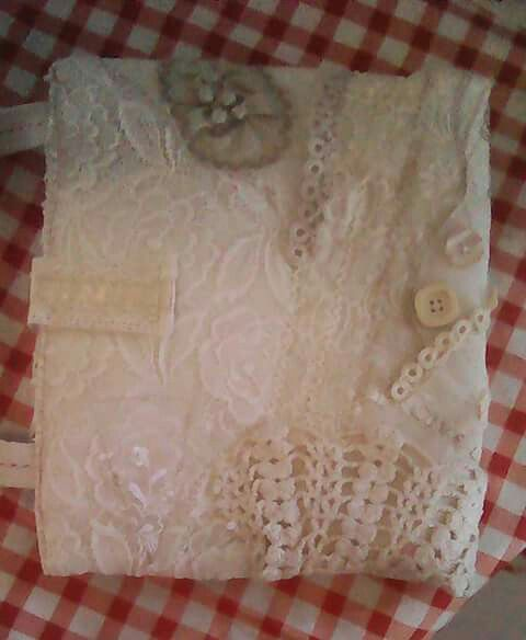 Shabby chic Bible cover : back