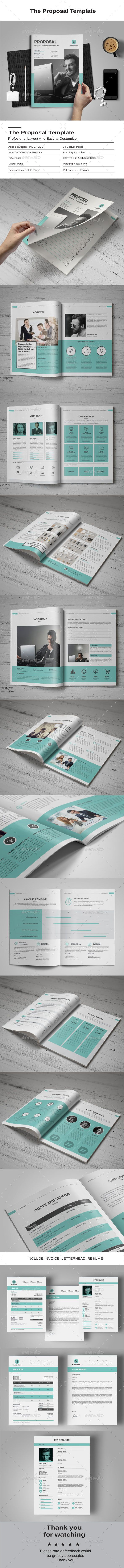 Proposal — InDesign INDD #report #corporate • Download ➝ https://graphicriver.net/item/proposal/19362412?ref=pxcr