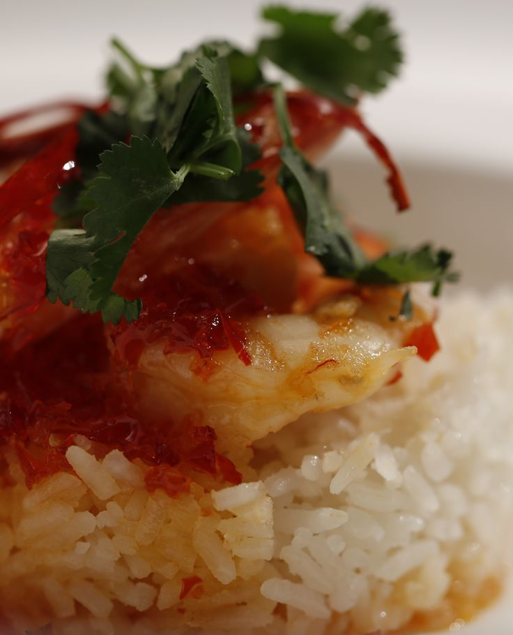 Mick and Matt's hot and spicy prawns on coconut lime rice from season 4 of MKR: http://gustotv.com/recipes/lunch/hot-spicy-prawns-coconut-lime-rice/