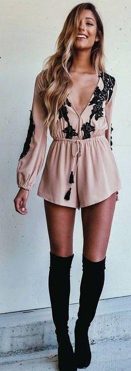 #summer #mishkahboutique #outfits | Embellished Romper