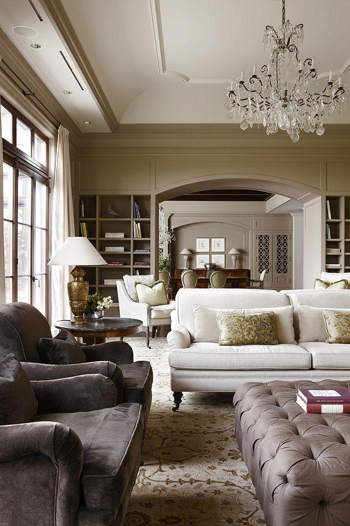 Classic Living Rooms Interior Design: Julie Charbonneau Design - Classic Interiors