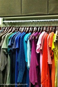 Beautiful Color Coded Closet