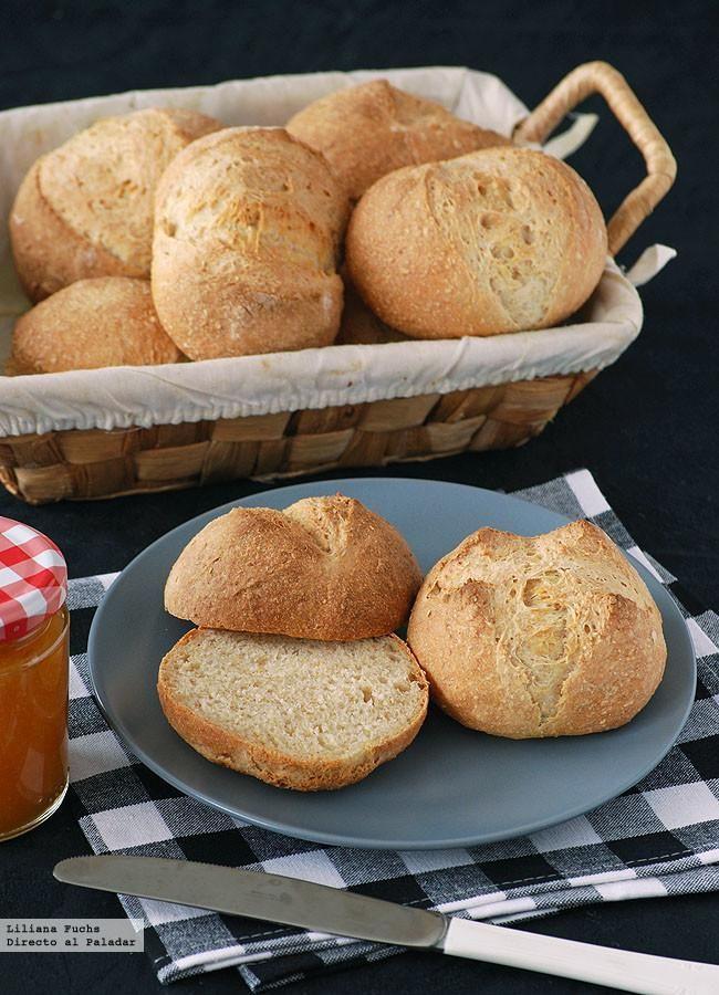 Receta de panecillos fáciles de yogur. Con fotos del paso a paso, consejos y sugerencias de degustación. Recetas de panes y panadería. Día Mund...