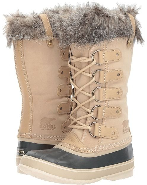 Sorel Women's Joan of Arctic Winter Boots are a very stylish and comfortable snow boot. These snow boots feature a waterproof suede leather upper that will keep your feet warm and dry during the cold winter season.  They are very durable, well constructed and are great for trekking through the snow.