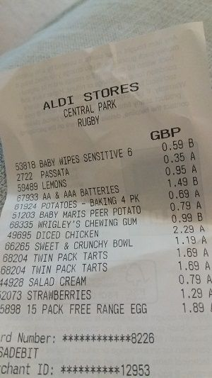 I been going to Aldi for a few years since I moved into a flat that is a walkable distance, so I used Aldi as a top up shop, but nowadays I do use it more as a main shop. I also shop at Tesco as that's the next nearest supermarket I can get to. Thought you might be interested to see the difference in shopping and how much you can save. I'm using my Aldi receipt versus Tesco online, I'll compare as closest as possible