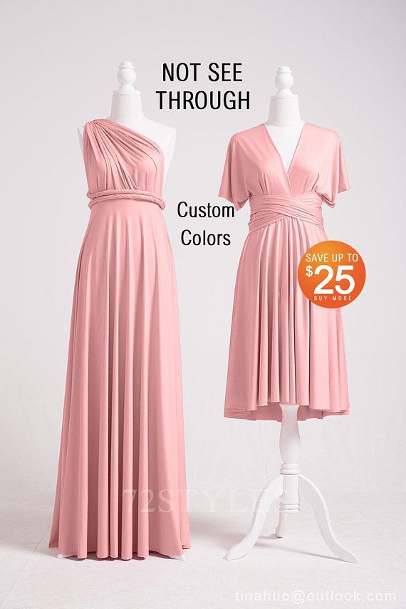 Dusty Rose Bridesmaid Dress, In… | Multi way dress, Dusty ...