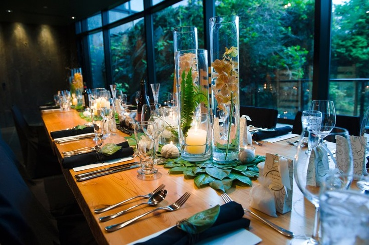 Love this idea for centerpieces at a wedding hosted at BlackRock Oceanfront Resort in Ucluelet, BC