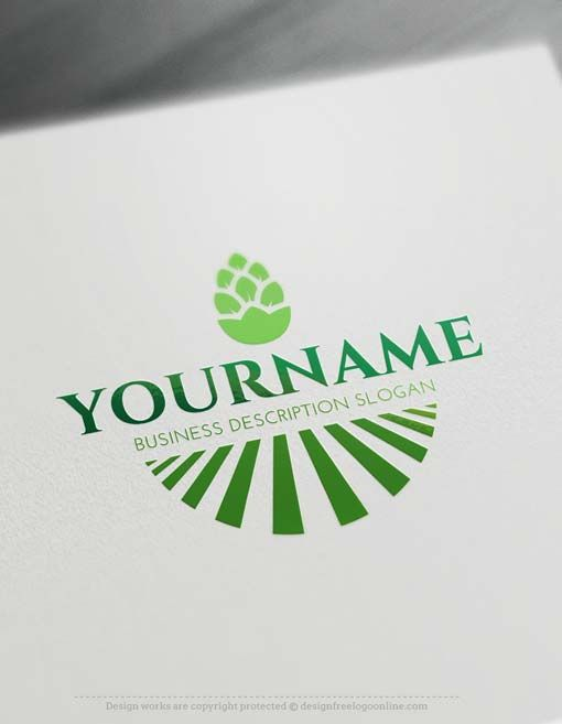Create Green Field Logo design with the Free Logo Maker