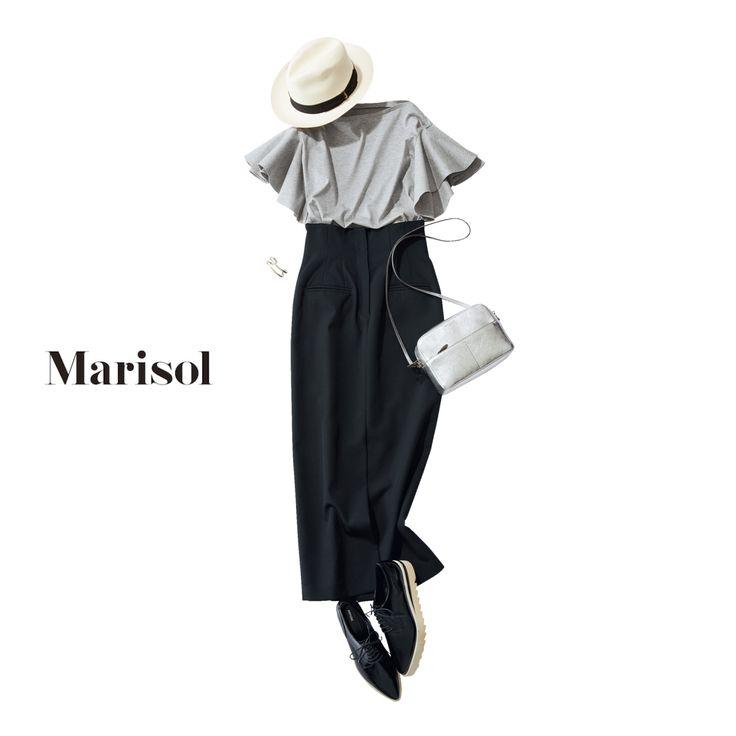 ミレニアル世代と一緒の時にはハイウエストで脚長コーデを意識してMarisol ONLINE|女っぷり上々!40代をもっとキレイに。