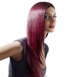 cheveux foncs raides couleur et longs des cheveux raides sublimement lisses pour cette coupe avec les - Coloration Cheveux Acajou