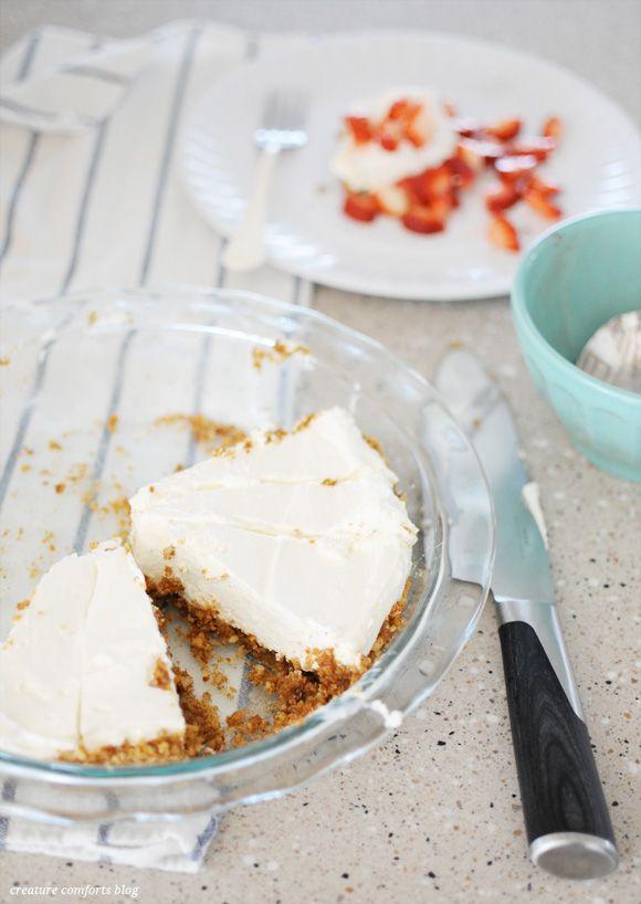 No-bake cheesecake with gluten-free gingersnap pecan crust