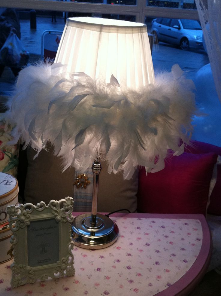 Chic Lamp of feathers