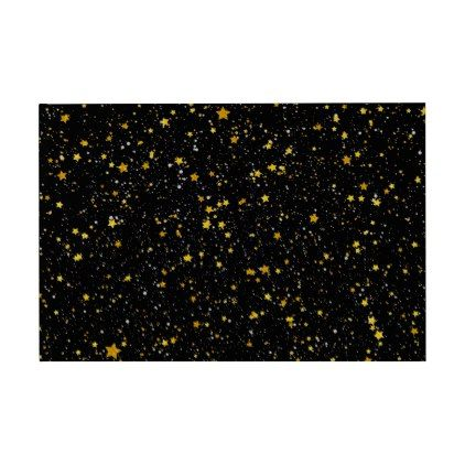Glitter Stars3 - Gold Black Guest Book - holiday card diy personalize design template cyo cards idea