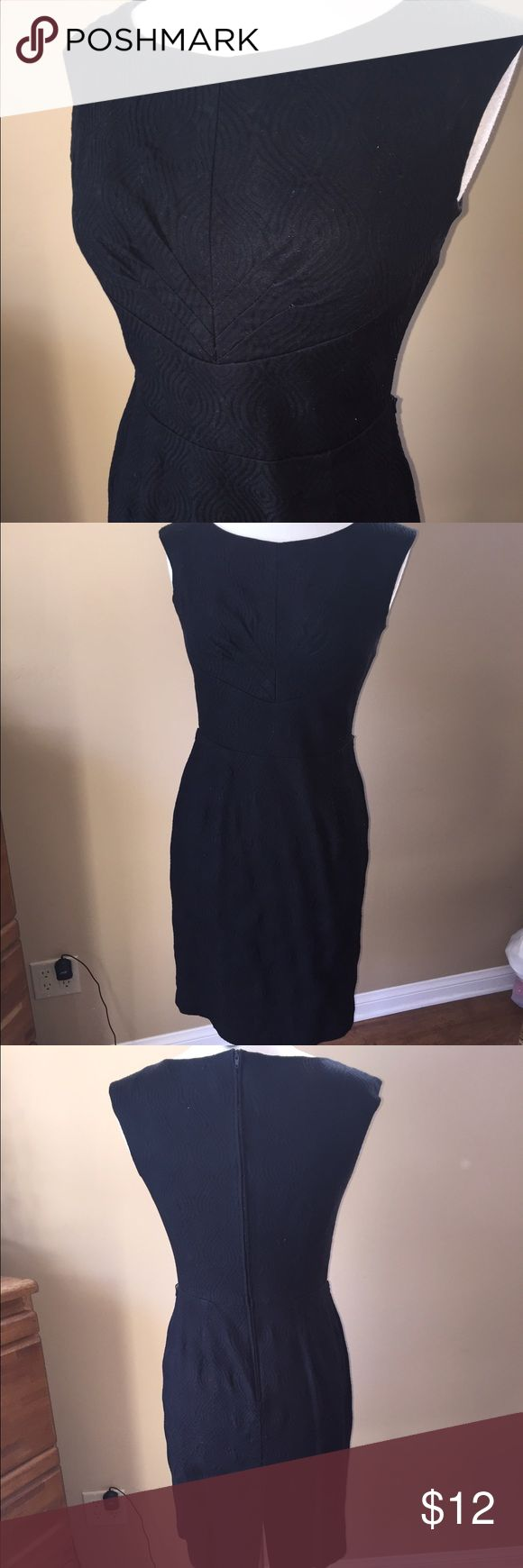 Karin Stevens Black Dress (runs small) Simple black dress with nice seam detail on bodice. Fabric is textured. Bodice lined, but not rest of dress. Back zipper, thread belt loops, but no belt. Dress is tight on mannequin, so probably a better fit on a size 4. Shown on size 6/8 mannequin (mannequin measures 37-26-37)👗👚👜Check out the $6 section of my closet (before the sold items). Lots of bundle-worthy $6 items! 15% bundle discount on 2+ items in a bundle.🚫NO TRADES🚫 Karin Stevens…