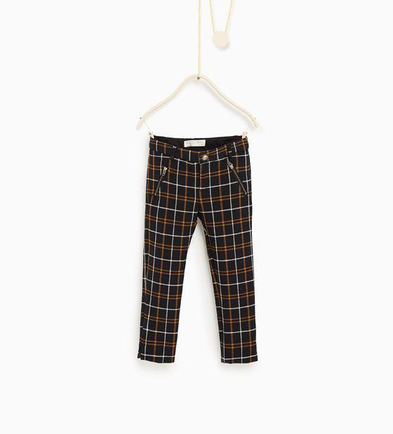 Rutet bukse