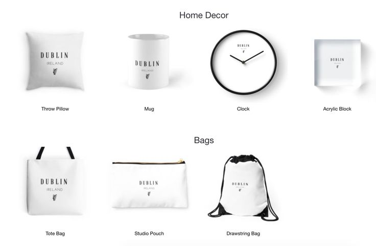 Dublin!- Home Decor, Bags, T-shirts and more. Available on Redbubble now.