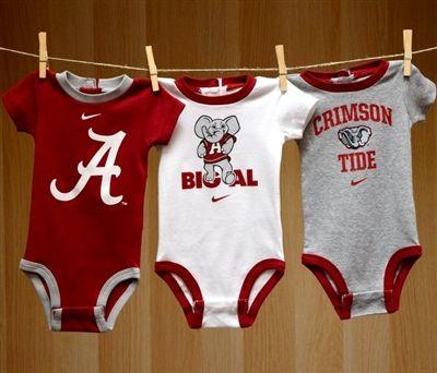 Alabama Baby 3 Pack Creeper Set - Nike