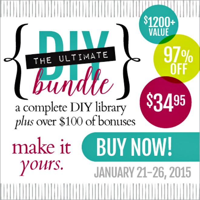 "Love to DIY? Want to ""Up"" Your Crafting Game? You'll Absolutely Love The January 2015 Ultimate DIY Bundle!"