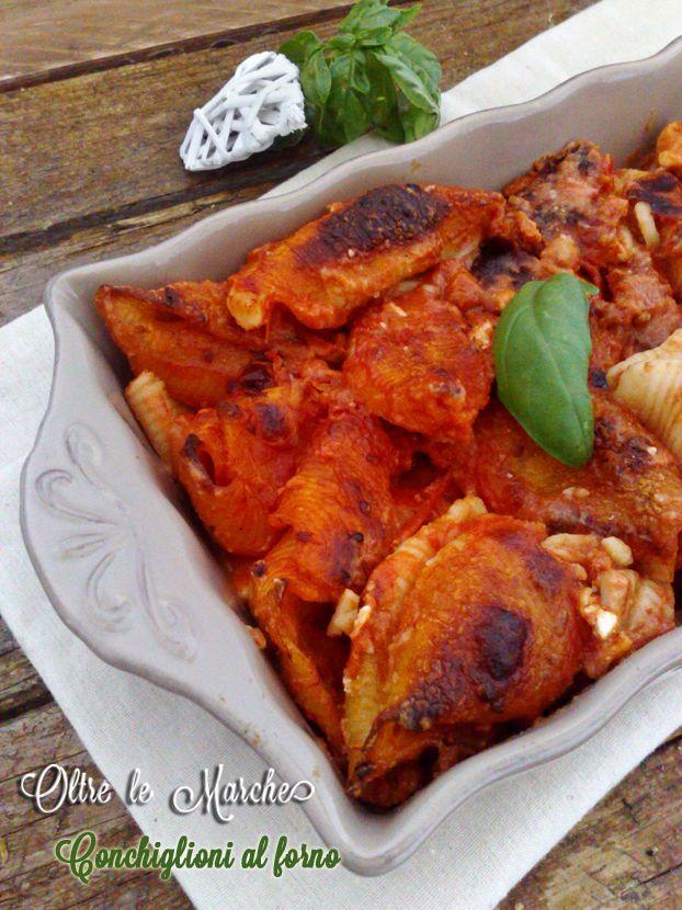 Conchiglioni al forno, con formaggio   Ricette vegetariane /  cucina italiana primi piatti, cucina primi piatti, pasta al forno, pasta al forno vegetariana