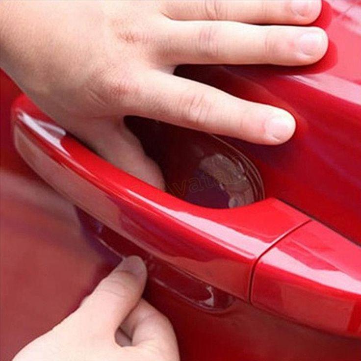 4pcs/Lot Transparent Car Handle Protection Film