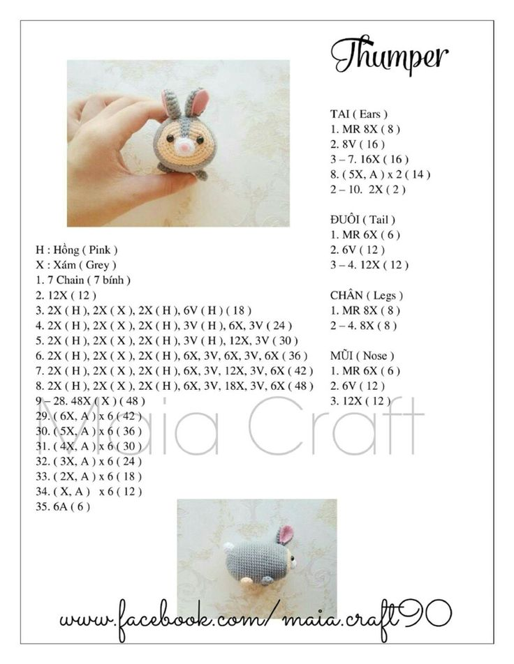 Crochet Tsum Tsum- has anyone found these translated to English? I can mostly figure it out but it'd be much easier translated!
